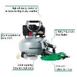 nailer and compressor kit with callouts