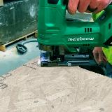 Cordless Jig Saw Action