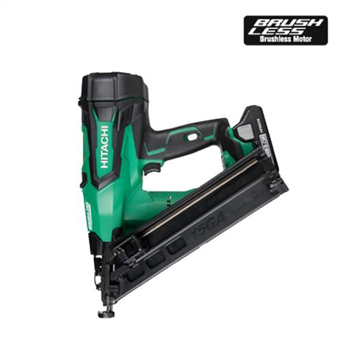 "NT1865DMA 2-1/2"" 18V Brushless Lithium Ion 15Ga Angled Finish Nailer"