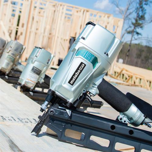 Metabo HPT Pneumatic Power Tools in a line