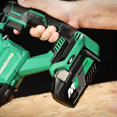 Person holding a Metabo HPT Multivolt Power Tool