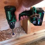 18V Hammer Drill Action