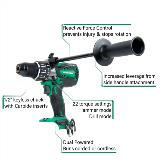 36V Cordless hammer drill with callouts