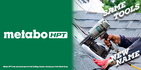 Same Tools, New Name Image for Metabo HPT