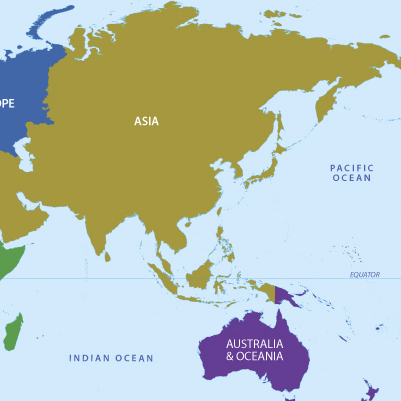 Asia and Oceania