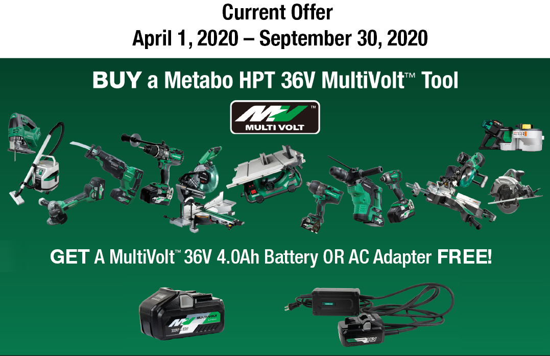 April 2020 Metabo HPT Promotion
