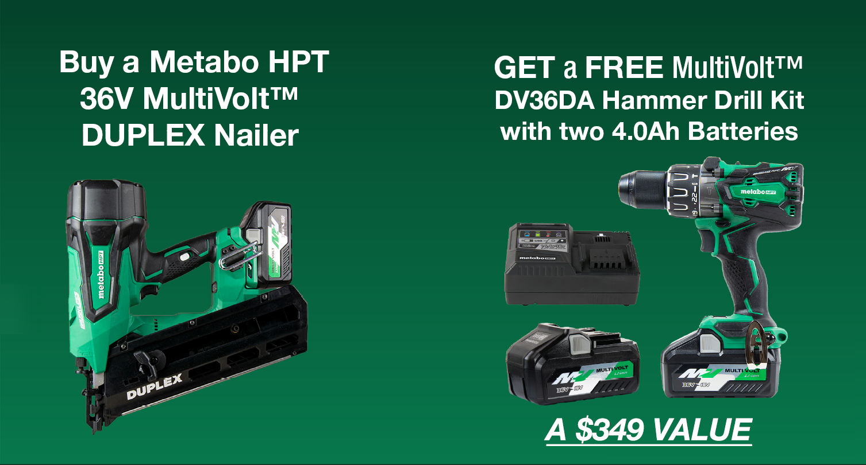 Metabo HPT Duplex Nailer Promotion