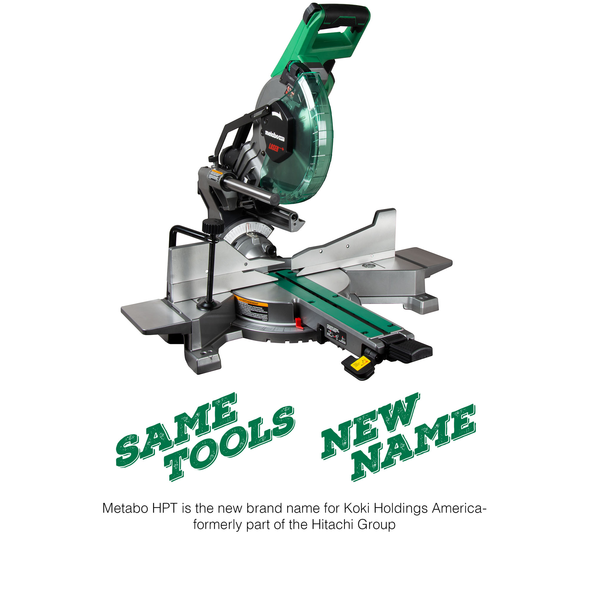"Metabo HPT 10"" Sliding Dual Compound Miter Saw with Laser Marker"