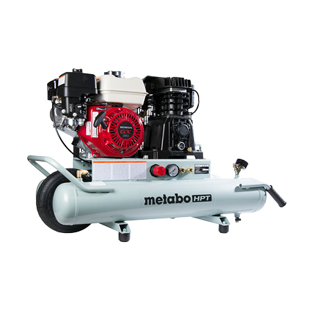 Metabo HPT 8-Gallon Gas Powered Wheelbarrow Air Compressor