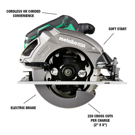 MultiVolt Circular Saw with callouts