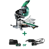 MultiVolt Miter Saw with Battery and Adapter
