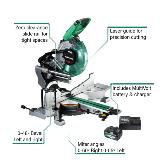 MultiVolt Miter Saw with callouts