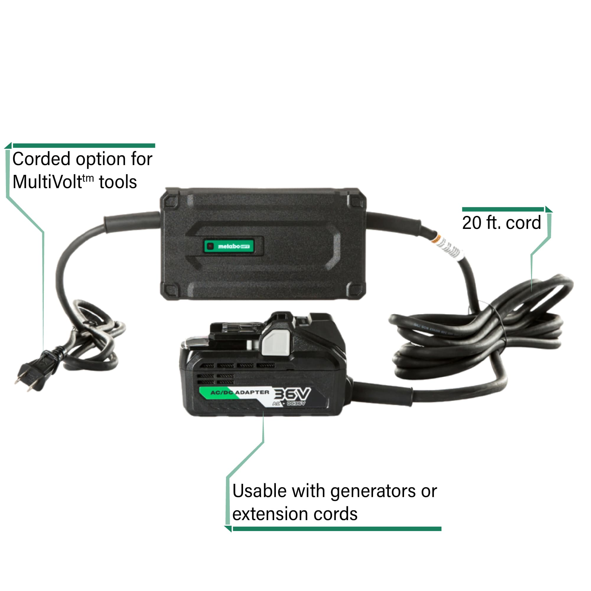 MultiVolt AC Adapter with callouts