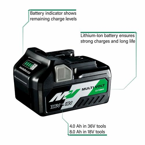 MultiVolt Battery 4Ah with Callouts