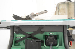 Table saw with AC adapter