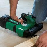 Cordless Brad Nailer in Action