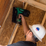 Cordless Framing Nailer in Action