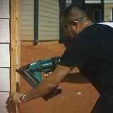 15 Gauge Cordless Nailer in Action