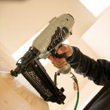 Finish Nailer in Action