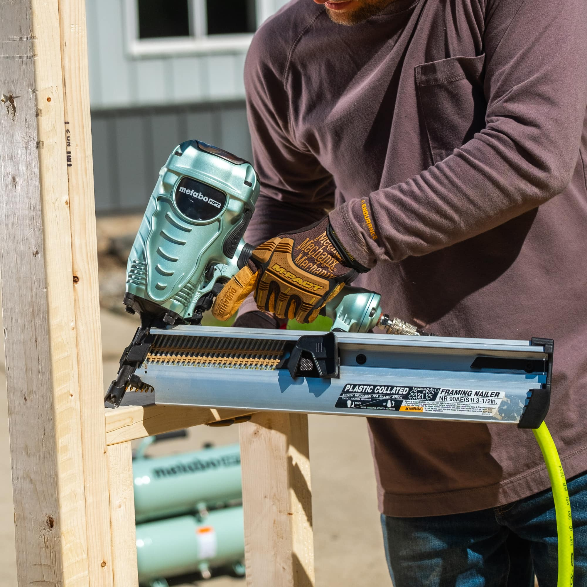Framing Nailer Action