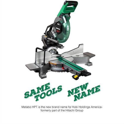 "Metabo HPT 10"" Sliding Dual Compound Miter Saw with Laser"