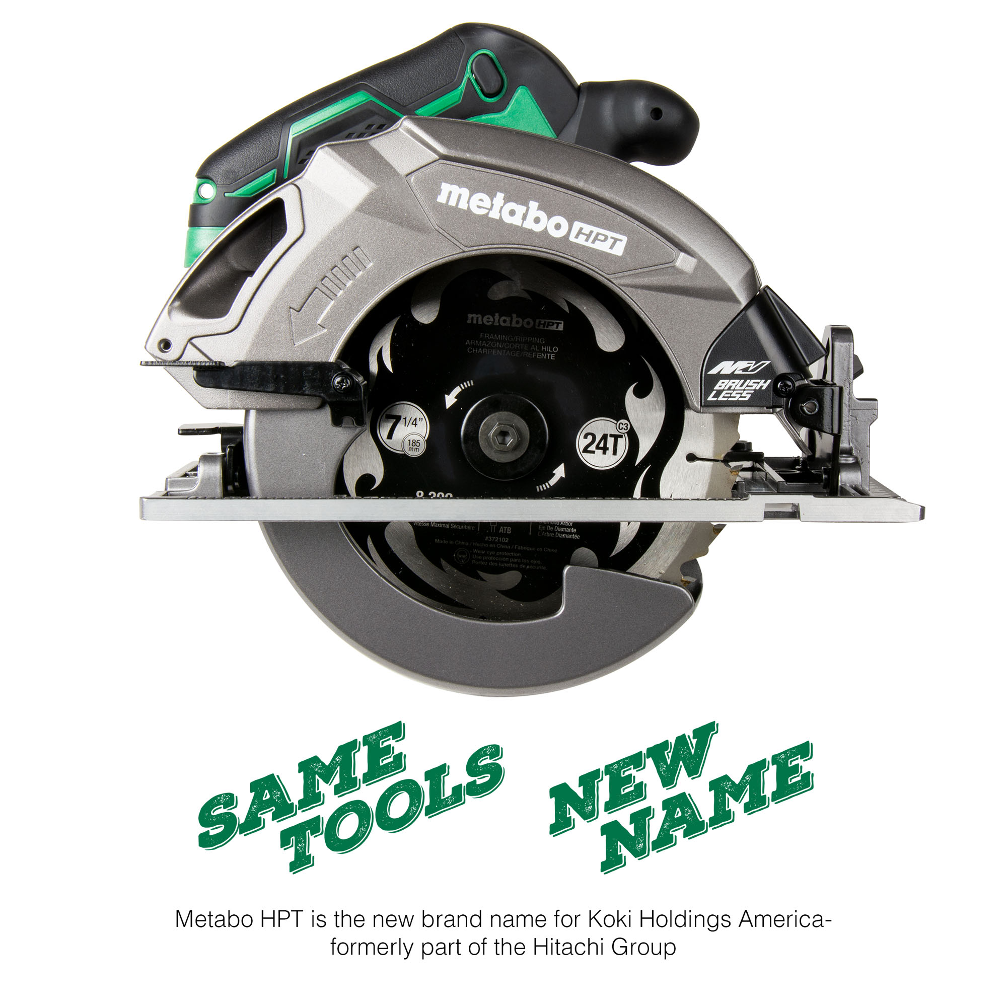 MultiVolt 36 Volt Circular Saw Side View