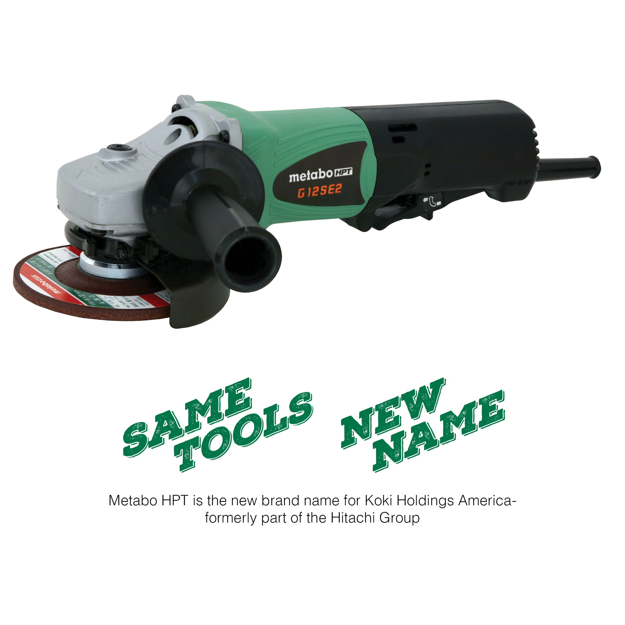 "Metabo HPT 9.5-Amp, AC/DC 4-1/2"" Non-Locking Paddle Switch Angle Grinder"