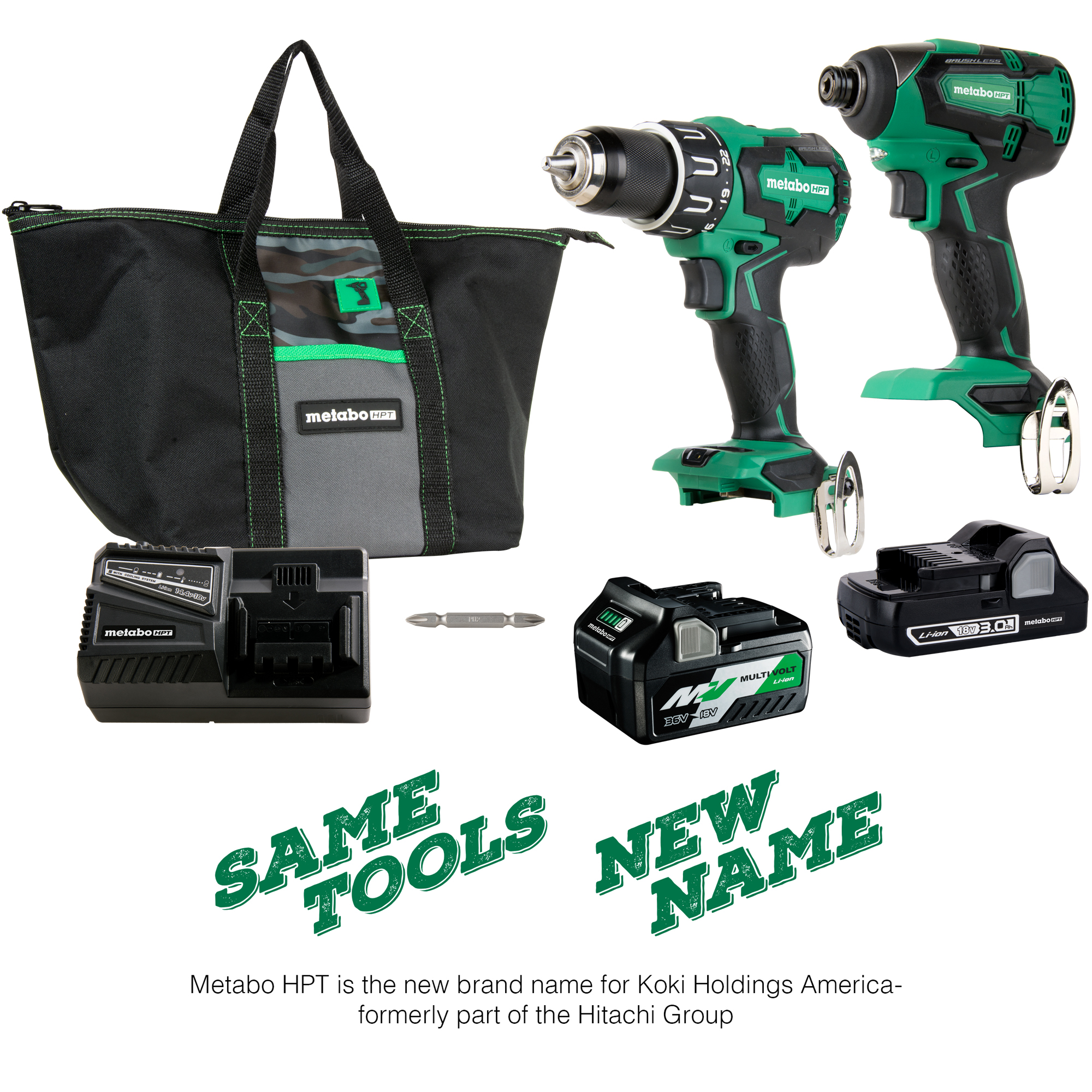 Metabo HPT 18V Lithium Ion Brushless Hammer Drill & Impact Driver Combo Kit