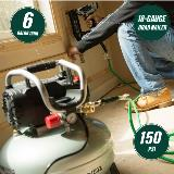 Brad Nailer Kit with Air Compressor callouts