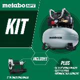 Brad Nailer Kit with Air Compressor kit