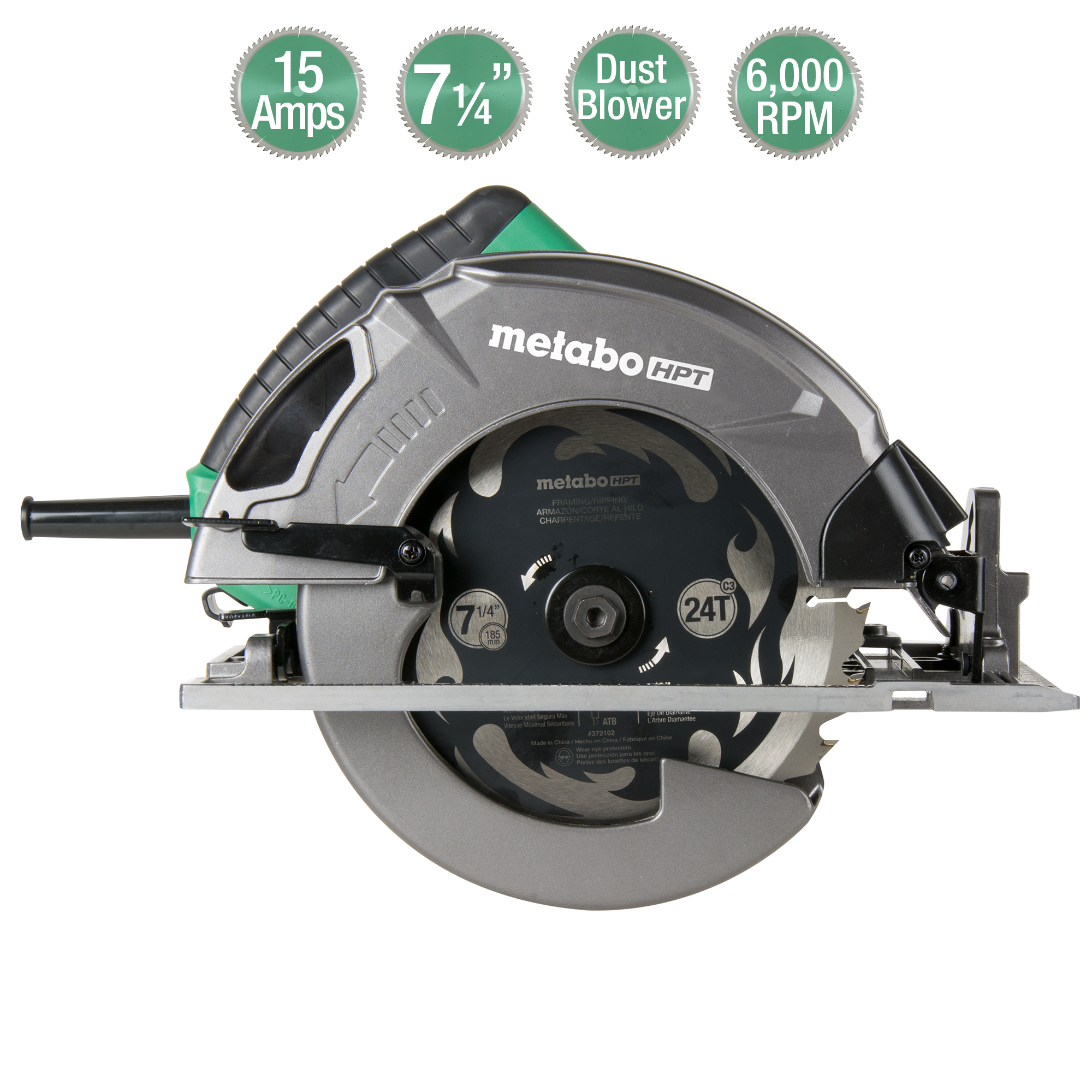 Metabo HPT C7SB3 Circular Saw Icons