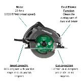 Metabo HPT Circular Saw with Callouts