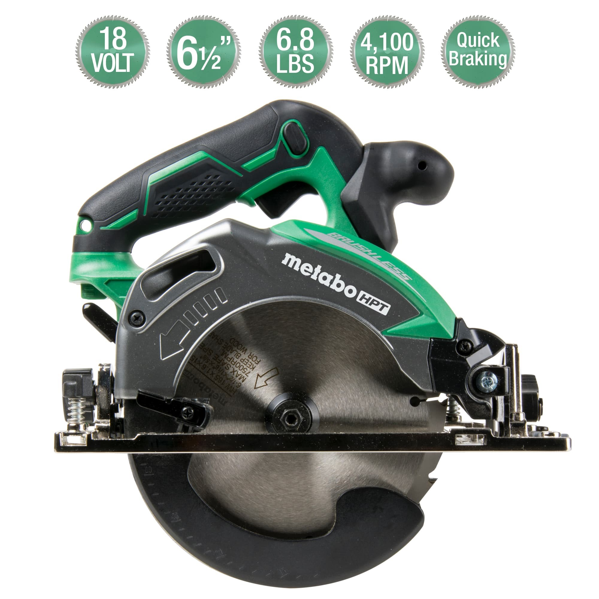 Metabo HPT Deep Cut Circular Saw with Callouts
