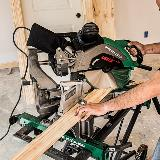 12 inch miter saw in action