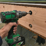 Cordless Hammer Drill in Action