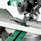 Dual Bevel Sliding Miter Saw Laser Detail