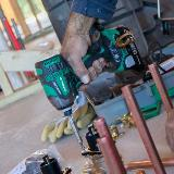Triple Hammer Impact Driver Action