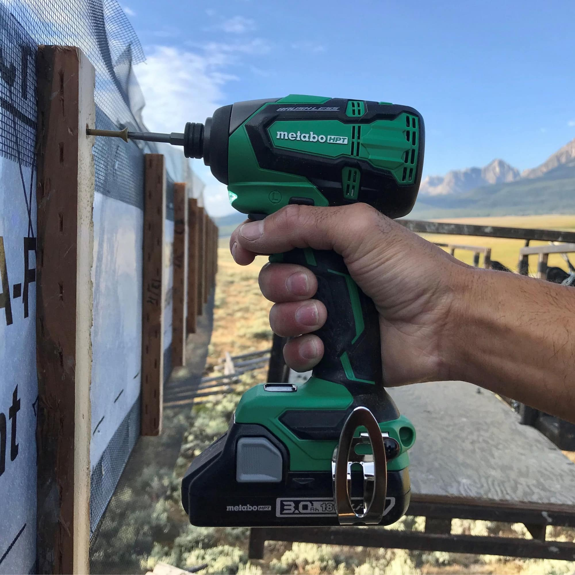 18V Impact Driver action