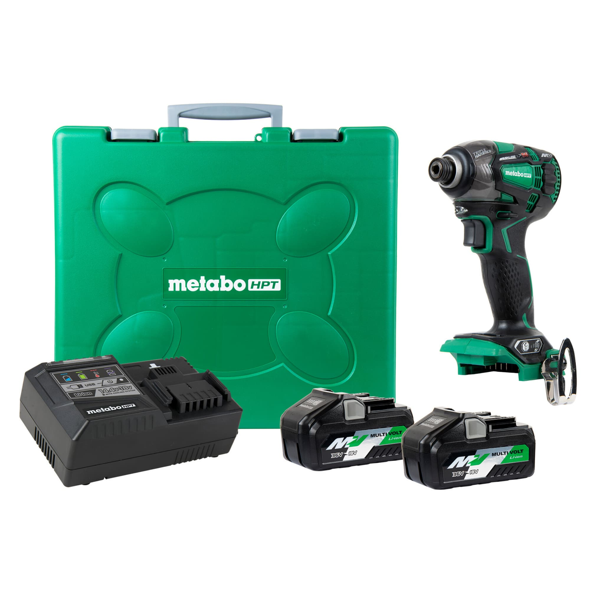 2-Battery w//Charger NEW Metabo HPT 18V Variable Speed Cordless Impact Driver