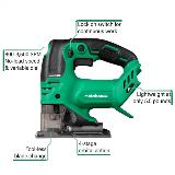 Cordless jigsaw with callouts