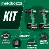 Sub-Compact Driver Drill/Impact Driver Combo kit
