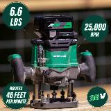 Cordless Plunge Router Callouts