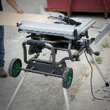 Jobsite Table Saw in Action